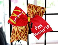 Food: McBase, McFlyer, McBackspot Cheer Bow Soccer Bow or Softball Bow
