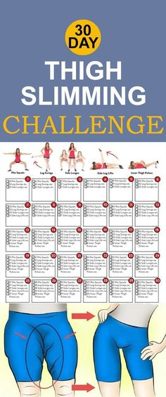 30 Day Thigh Slimming Challenge – Health n Tips
