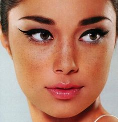 Asian beauty with cute freckles. Embrace freckles more!