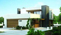 Plano de casa contemporánea de 3 dormitorios y 2 pisos