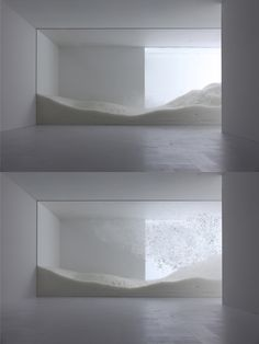 Sensing Nature: The Snow, installation by Tokujin Yoshioka at the Mori Art Museum of Tokyo Instalation Art, Interactive Art, Exhibition Space, Land Art, Conceptual Art, Art Plastique, Art Museum, Sculpture Art, Interior Architecture