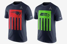 GearHaiku #201 Super Bowl Flag Tee by Nike. #SuperBowl #12thMan #SB49 #Patriots #Seahawks