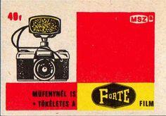 Vintage Hungarian matchbox label