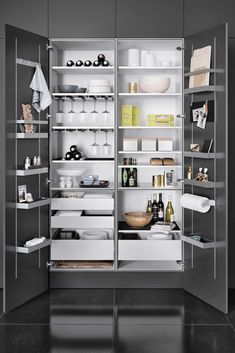 The Leading 16 Cooking Area Cupboard Ideas For 2019 Stunning Ideas For A Kitchen Pantry Cabinet Width Exclusive On Homesable Home Decor Kitchen Pantry Design, Kitchen Pantry Cabinets, Modern Kitchen Cabinets, Modern Kitchen Design, Home Decor Kitchen, Kitchen Organization, Kitchen And Bath, Kitchen Interior, Kitchen Storage