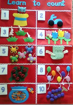 Learn to count felt activity poster