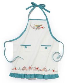 Lenox Chirp Apron To match our dishes! Real Kitchen, Cute Kitchen, Kitchen Stuff, Lenox Dishes, Little Birdie, Sewing Aprons, Kitchen Aprons, Aprons Vintage, Kitchen Accessories