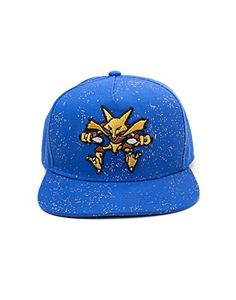 1cda26e9da605 Official Pokemon Alakazam Character Logo Snapback Baseball Cap Hat