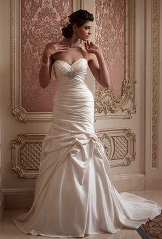 Rivini - Fall 2013 - Glacia Strapless Layered Satin Mermaid Wedding Dress  with Sheer Back Detail 3832bf6a500f