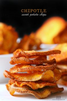 Microwave Chipotle Sweet Potato Chips by Nutmeg Nanny