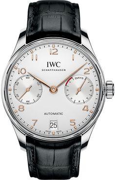 003c9b3a48b IWC IW500704 Portugieser alligator-leather watch