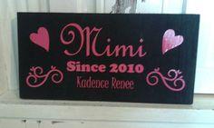 Mimi  Grandma  Mama Sign  Gifts for Mom  by BeaDazzledandBeyond