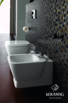 The Silk collection's WC and bidet by Keramag Design UK. Find more at: http://www.keramagdesign.com/