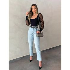 Cute Casual Outfits, Stylish Outfits, Look Fashion, Fashion Outfits, Looks Chic, Aesthetic Clothes, Ideias Fashion, Poses, Jeans