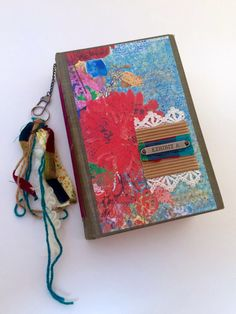 Large Journal Junk Journal Boho Decor Altered by MoonsideParlour
