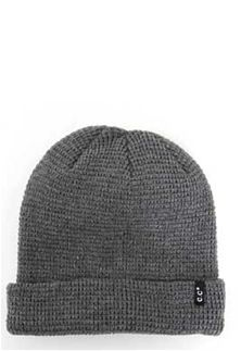 088af1abe0 C.C.+Waffle+Knit+Beanie+with+Small+Loop+Logo+for+Men +in+Dark+Grey+HTM-7-DKGREY