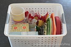 Moving Quick Tip: Paper Products Basket - Organize and Decorate Everything