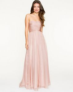 Chiffon Pleated Sweetheart Gown, I wonder what this would look like on a bigger size... cause nobody looks like this model