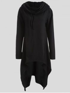 GET $50 NOW | Join RoseGal: Get YOUR $50 NOW!http://www.rosegal.com/plus-size-hoodies/drawstring-asymmetric-longline-hoodie-835491.html?seid=7379124rg835491