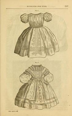 Godey's lady's book 1863 Jan -June; Jul - Dec Victorian Children's Clothing, Victorian Fashion, Vintage Fashion, Victorian Blouse, 1800s Fashion, 19th Century Fashion, Historical Clothing, Fashion Plates, Fashion History