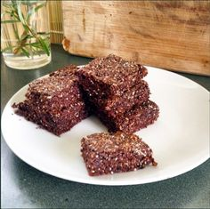 4-Ingredient Easy Chocolate Chia Seed Bars Recipe on Yummly
