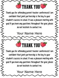 [ Conferences Teacher Letters Parent Thank You Letter Academic Templates For Word Document Hub ] - Best Free Home Design Idea & Inspiration Parent Teacher Conference Forms, Parent Teacher Meeting, Parent Teacher Communication, Teacher Forms, Parent Teacher Conferences, Meet The Teacher, Parent Involvement Ideas, Notes To Parents, Letter To Parents
