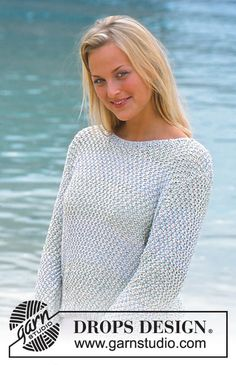 Tropical sea / DROPS - free knitting patterns by DROPS design : Tropical sea / DROPS – free knitting patterns by DROPS design Baby Boy Knitting, Summer Knitting, Free Knitting, Drops Design, Sweater Knitting Patterns, Knitting Designs, Knit Patterns, Drops Patterns, How To Purl Knit