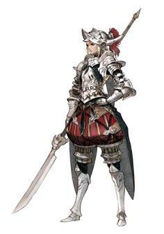 Female Human Knight - Pathfinder PFRPG DND D&D d20 fantasy