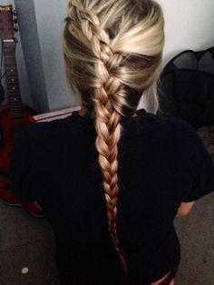 Braids: i would just do another on the other side as well