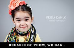 See These Young Girls Pay Homage To Inspiring And Iconic Women From Past And Present -  Frida Kahlo