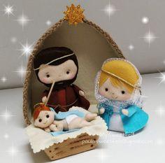 Softies, Alpaca Peluche, Felt Decorations, Christmas Decorations, Princess Leia Doll, Nativity Creche, Star Wars Figurines, Jesus Mary And Joseph, Polymer Clay Christmas