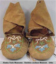 Round-toed moccasins. :: Alaska State Museums-Sheldon Jackson Museum-Sitka