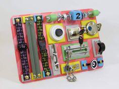 Travel busy board Sensory activity wood toy Baby busy board toddler Fine motor board Special needs Board with locks Fidget board Wood Child