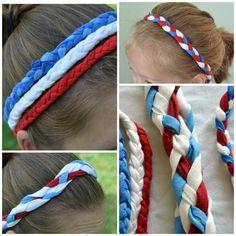 Patriotic Headbands from a T-shirt #4thofJuly #HolidayFun #HearTones