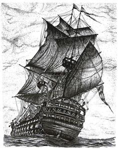 Sailing Drawing Pen And Ink In Black And White Greeting Card by Mario Perez Pirate Ship Drawing, Ink Pen Drawings, Black And White Drawing, Pen Art, Art Sketches, Fine Art America, Fine Art Prints, Artwork, Ship Art