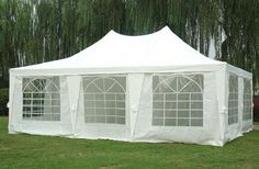 23x17 Wedding Party Tent Canopy Gazebo Heavy Duty Water Resistant White