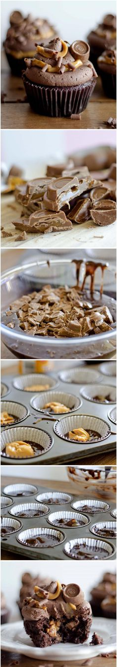 Chocolate Rolo Cupcakes Recipe