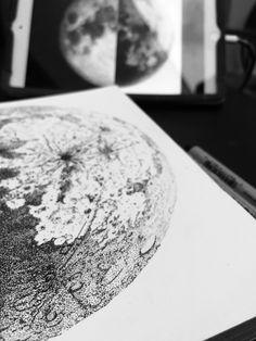 En proceso , pedazo de luna,tinta
