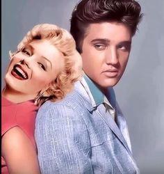 Marilyn Monroe y Elvis Presley. Lisa Marie Presley, Elvis And Priscilla, Priscilla Presley, Arte Marilyn Monroe, Marilyn Monroe And Audrey Hepburn, Marilyn Monroe Artwork, Young Celebrities, Hollywood Celebrities, Hollywood Music
