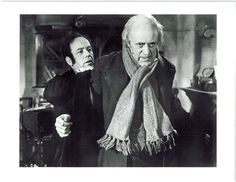 """Alistair Sim as Scrooge in 1951's """"A Christmas Carol""""- my personal favorite of all the Scrooge movies - he is awesome in it!!"""