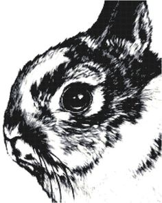 Original Rabbit Cross Stitch Pattern Bunny Instant Download PDF