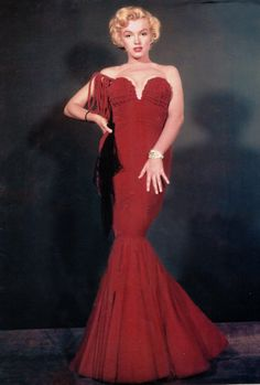 dfe66a86fb6 Marilyn Monroe Red Velvet Formal One Shoulder by Morningstar84