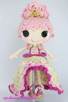 LALALOOPSY Goldie Luxe Crochet Amigurumi Doll by Npantz22 on deviantART Pattern euro 5,93
