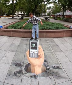 "Julian Beever 3D Street Art   | Do You WannaA Draw it - You Do Want AnaDraw! | Download Illusion Drawing App ""AnaDraw"" https://itunes.apple.com/app/apple-store/id885877961?pt=2090984&ct=AnaDraw-pinterest&mt=8"