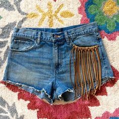 RL Denim & Supply Leather Fringe Cutoffs NWOT HOST PICK 6/24! Totally boho, these denim cut-off shorts from Ralph Lauren Denim & Supply are high-waisted with amazing 100% leather fringe adorning one front pocket. 5-pocket style, 100% cotton. Brand new without tags. Fit is true to size. Ralph Lauren Pants