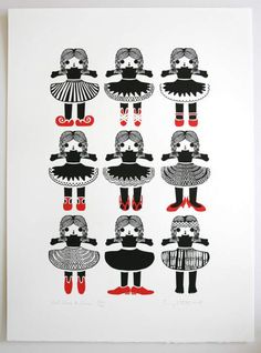Penny Stotter - What Shoes to Choose 560x760mm screenprint on fabriano