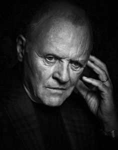 Sir Anthony Hopkins - Photo by Robert Ascroft Foto Face, Sir Anthony Hopkins, Hollywood Men, Celebrity Portraits, Black And White Portraits, Male Face, Best Actor, Famous Faces, Portrait Photography