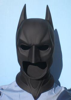 Batman Dark Knight Cowl Mask Prop Replica - Click Image to Close Batman Cowl, Batman Suit, Batman Mask, Im Batman, Zbrush, Batman Cosplay, Batman Outfits, Batman Birthday, Batman Begins