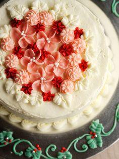 Recipe : Romantic Cake/小花を散らしたロマンティック・ケーキ