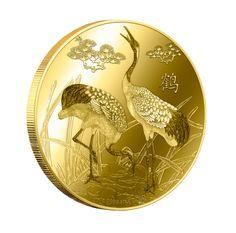 Feng Shui - Cranes 1/4 oz Gold Coin