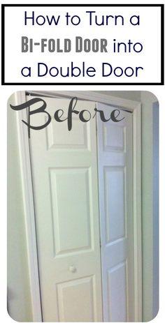 How to turn a bi-fold door into a double door